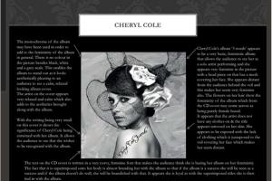 Cheryl Cole Analysis
